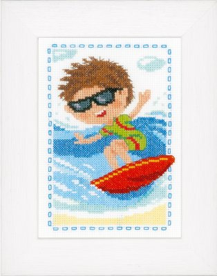 click here to view larger image of Surfer (counted cross stitch kit)