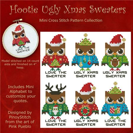 click here to view larger image of Hooties Ugly Christms Sweaters (chart)