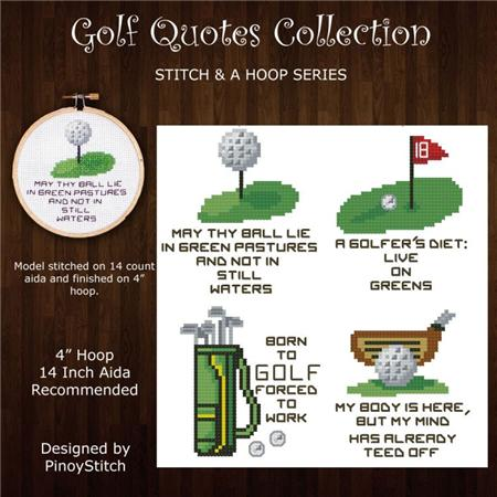 click here to view larger image of Stitch and a Hoop - Golf Quotes Mini Pattern (chart)