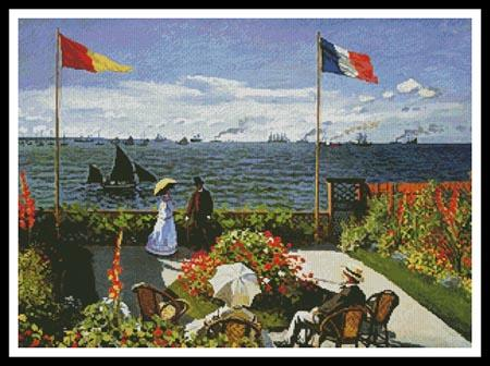 click here to view larger image of Garden at Saint Adresse  (Claude Monet) (chart)