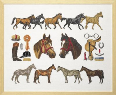 click here to view larger image of Horse Homage (counted cross stitch kit)