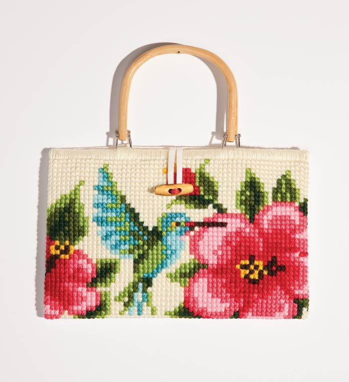 click here to view larger image of Hummingbird Chunky Cross Stitch Handbag (chunky cross stitch kit)
