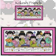 click here to view larger image of Kokeshi Friends (chart)