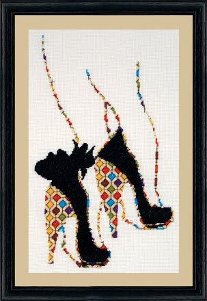 click here to view larger image of Quilted Heels (counted cross stitch kit)