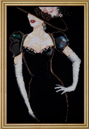 click here to view larger image of Lady In Black (counted cross stitch kit)