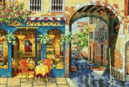 click here to view larger image of Charming Waterway (counted cross stitch kit)