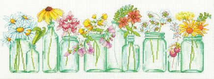 click here to view larger image of Mason Jar Line (counted cross stitch kit)
