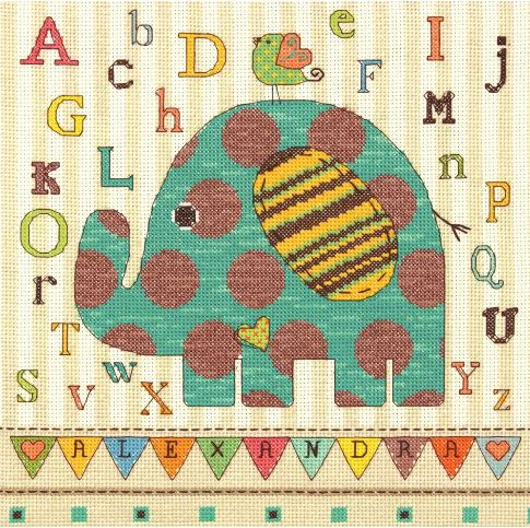 click here to view larger image of Baby Elephant (counted cross stitch kit)