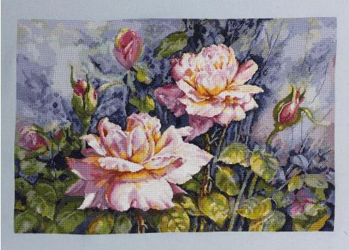click here to view larger image of Dana's Roses (counted cross stitch kit)