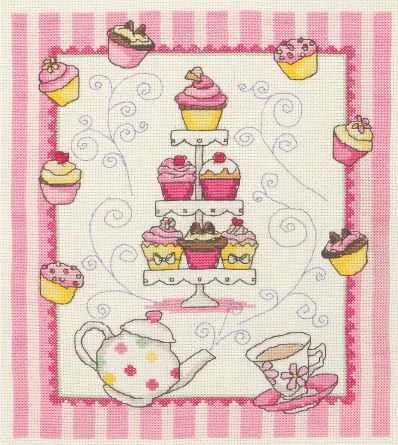 click here to view larger image of Cupcakes Sampler (counted cross stitch kit)