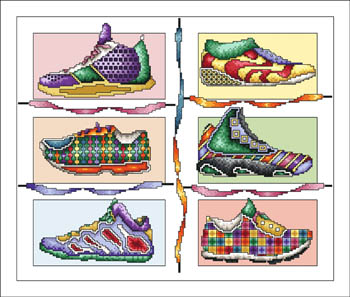 click here to view larger image of Snazzy Sneakers (chart)