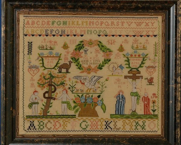 click here to view larger image of ACL - A Danish Sampler from 1790 (Kit) (counted cross stitch kit)