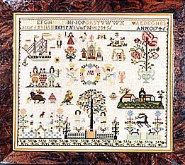 click here to view larger image of German Sampler by AED - 1746 (Kit) (counted cross stitch kit)