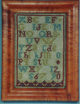 click here to view larger image of Antique Alphabet Sampler (Kit) (counted cross stitch kit)