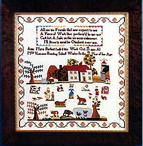 click here to view larger image of Anna Maria Barfoot 1804 (35ct Kit) (counted cross stitch kit)