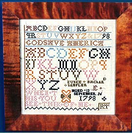 click here to view larger image of Eunice Birchard 1798 - God Save America (Kit) (counted cross stitch kit)