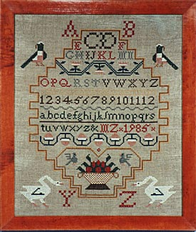 click here to view larger image of Bird Sampler, The (Kit) (counted cross stitch kit)