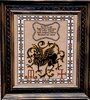 click here to view larger image of Black Gryphon (Kit) (counted cross stitch kit)
