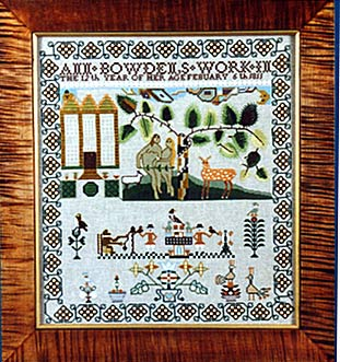 click here to view larger image of Ann Bowden 1811 Sampler (40ct Kit) (counted cross stitch kit)