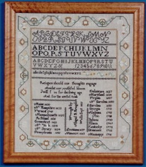 click here to view larger image of Abigail Bragdon 1832 Sampler (Chart only) (chart)