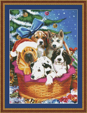 click here to view larger image of Christmas Puppies (chart)