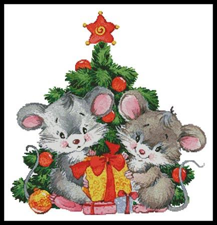 click here to view larger image of Cute Christmas Mice (chart)