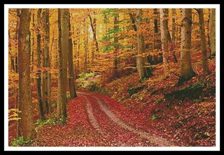 click here to view larger image of Autumn Path (chart)