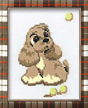 click here to view larger image of Cocker Spaniel (counted cross stitch kit)