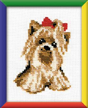 click here to view larger image of Yorkie (counted cross stitch kit)