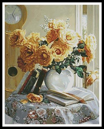 click here to view larger image of Yellow Roses Painting (chart)