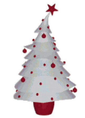 click here to view larger image of Red and White Christmas Tree (chart)