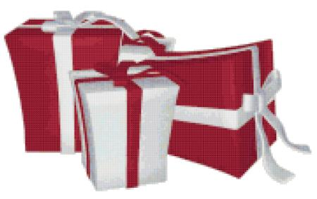 click here to view larger image of Red and White Christmas Gifts (chart)