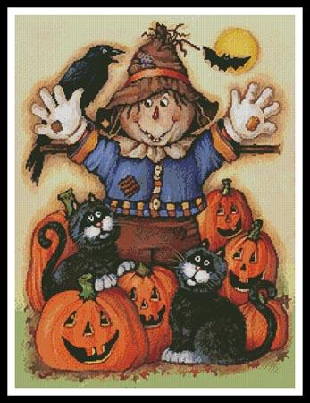 click here to view larger image of Scarecrow's Halloween Pumpkin Patch (chart)