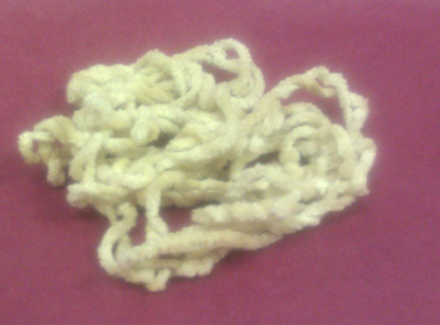 click here to view larger image of Italian Custard Chenille (3 yard) (fiber)
