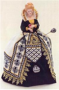 click here to view larger image of Sara - A Deruta Renaissance Pincushion Doll (chart)