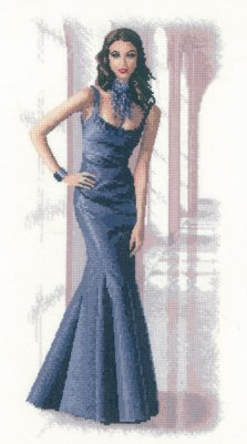 click here to view larger image of Isabella - Elegance series by John Clayton (Kit) (counted cross stitch kit)