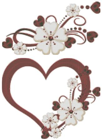 click here to view larger image of Valentines - Flowers & Hearts (chart)