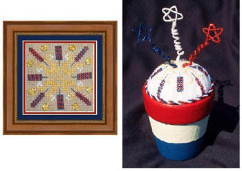 click here to view larger image of Patriotic Square and Pincushion (chart)
