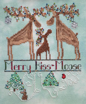 click here to view larger image of Merry Kiss-Moose (chart)