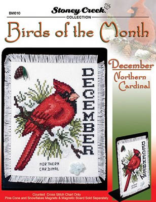click here to view larger image of Bird of the Month - December - Northern Cardinal (chart)