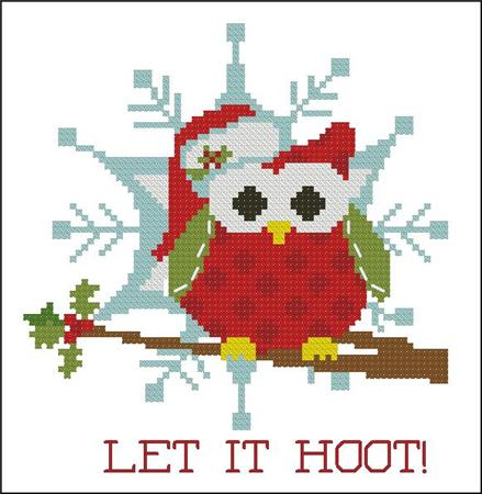click here to view larger image of Christmas Hootie 005 Let it Hoot (chart)