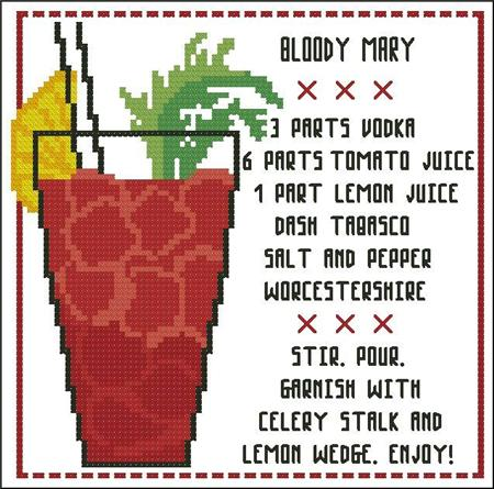 click here to view larger image of Cocktail - Bloody Mary (chart)