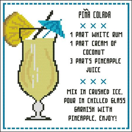 click here to view larger image of Cocktail - Pina Colada (chart)