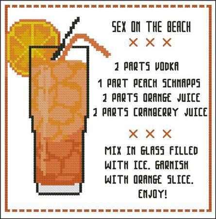 click here to view larger image of Cocktail - Sex on the Beach (chart)