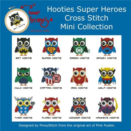 click here to view larger image of Hooties Super Heroes (chart)