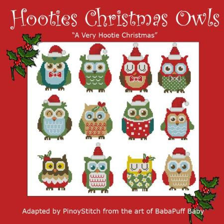 click here to view larger image of Hooties Christmas Owls Minis - A Very Hootie Christmas (chart)