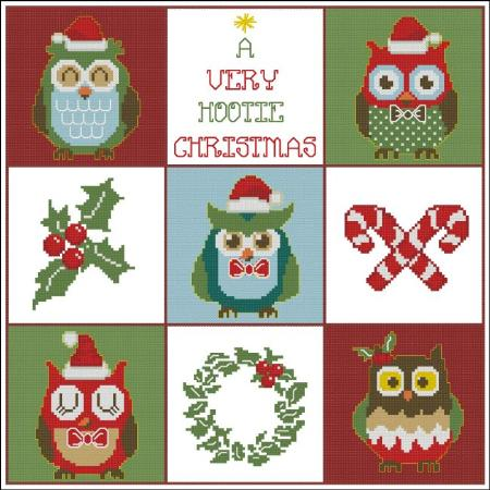 click here to view larger image of Hooties Christmas Owls Sampler (chart)