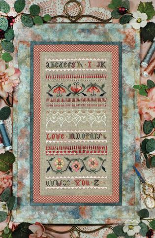 click here to view larger image of Beautiful Finishing 15 - I Love You Quilted Bellpull (chart)