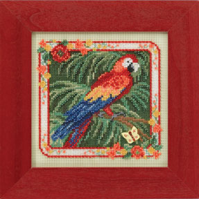 click here to view larger image of Parrot (2014) (counted cross stitch kit)
