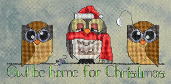click here to view larger image of Owl Be Home For Christmas (chart)